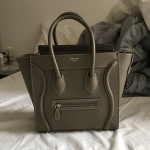 Celine Micro Luggage in Souris